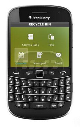 Esta aplicación le permite recuperar un correo o contacto borrrado accidentalmente, también susnotas importantes, tareas o notas y miedo de que se ha eliminado accidentalmente, incluso funciona despes de semanas de eliminación Recycle Bin viene con varios opciones de configuración que le permite establecer el número deunidades de cada tipo que desea conservar en la Papelera de reciclaje, y por cuánto tiempo. Compatibilidad BlackBerry OS 5.0 – 7.1 BlackBerry 85xx, 89xx, 91xx, 9220, 93xx, 95xx, 96xx, 97xx, 98xx, 99xx Descarga BlackBerry World