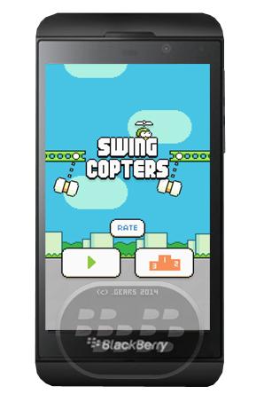 De los creadores de Flappy Bird llega Swing Copters un sencillo juego difícil, consiste en esquivar los obstáculos y llegar lo más lejos posible, lo único que tiene que hacer es presionar la pantalla para ascender y asi comenzar la desesperante aventura. Compatibilidad BlackBerry OS 10.2.1 o Superior (Q5, Q10, Z10, Z30, Z3 y P9982) Descarga Swing Copters.apk