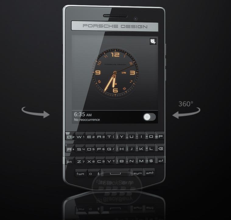BlackBerry anunció oficialmente el nuevo Porsche Design P'9983 hoy miércoles 17 de septiembre, esta una edición exclusiva y limitada para usuarios con mayor poder adquisitivo a continuación detalles y especificaciones del nuevo dispositivo. Tamaño Alto 119 mm / 4.69 pulgadasAncho 67.1 mm / 2.64 pulgadasProfundidad 10.6 mm / 0.42 pulgadas Peso 140g / 4.94 oz Navegación All-touch screen, navegación basada en gesto intuitivo Teclado Teclado BlackBerry Física, con corrección automática contextual, predicción de la siguientepalabra, Instant atajos de escritura de Acción y un motor de aprendizaje personalizado que llega a conocer la forma en que escribe Teclas DedicadasVolumen Arriba/Abajo, Silencioe,