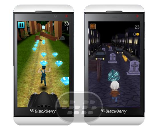 Estos interesantes juegos de obstáculos son desarrollados por Team Akash, poseen llamativos gráficos en 3D, lo único que tiene que hacer es correr lo más lejos posible, gire y salte de un lado hacia el otro, en una carrera de obstáculos interminables, en el camino encontrará monedas de bonificación y golosinas, ¿Qué tan lejos puede llegar? Subway Jungle | Descarga BlackBerry World (Q5, Q10, Z10, Z30, Z3, Passport) Street Runner | Descarga BlackBerry World (Q5, Q10, Z10, Z30, Z3, Passport)