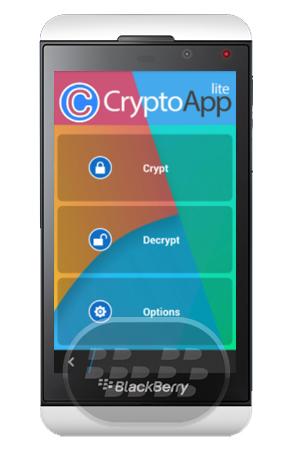 Esta aplicación le permite encriptar cualquier tipo de archivo: imágenes, vídeo, audio, textos, etc. ¿Cómo se puede cifrar un archivo?¡Es fácil! Seleccione un archivo, elegir una contraseña y empezar a cifrar.Con la contraseña elegida se puede descifrar con fácilidad el archivo cuando y donde quieras. Con CryptoApp es posible descifrar los archivos también en diferentes dispositivos: de hecho CryptoApp le permite compartir un archivo encriptado y descifrar en cada dispositivos sólo con la contraseña elegida en la etapa de codificación. Compatibilidad BlackBerry OS 10 o Superior (Q5, Q10, Z10, Z30, Z3, Passport) Descarga BlackBerry World
